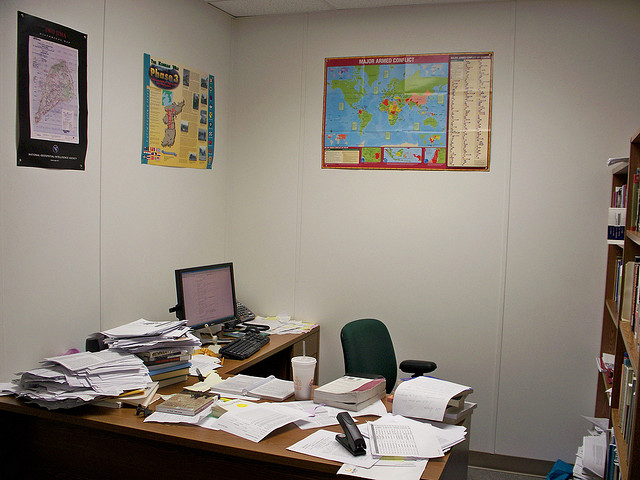 Papers are piling up - it's time to clean the office!
