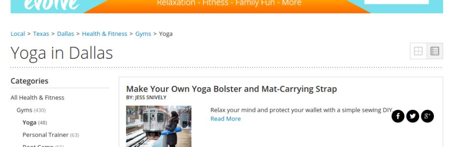 yoga in dallas